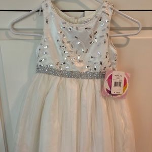 Little girls white special occasion dress - NWT